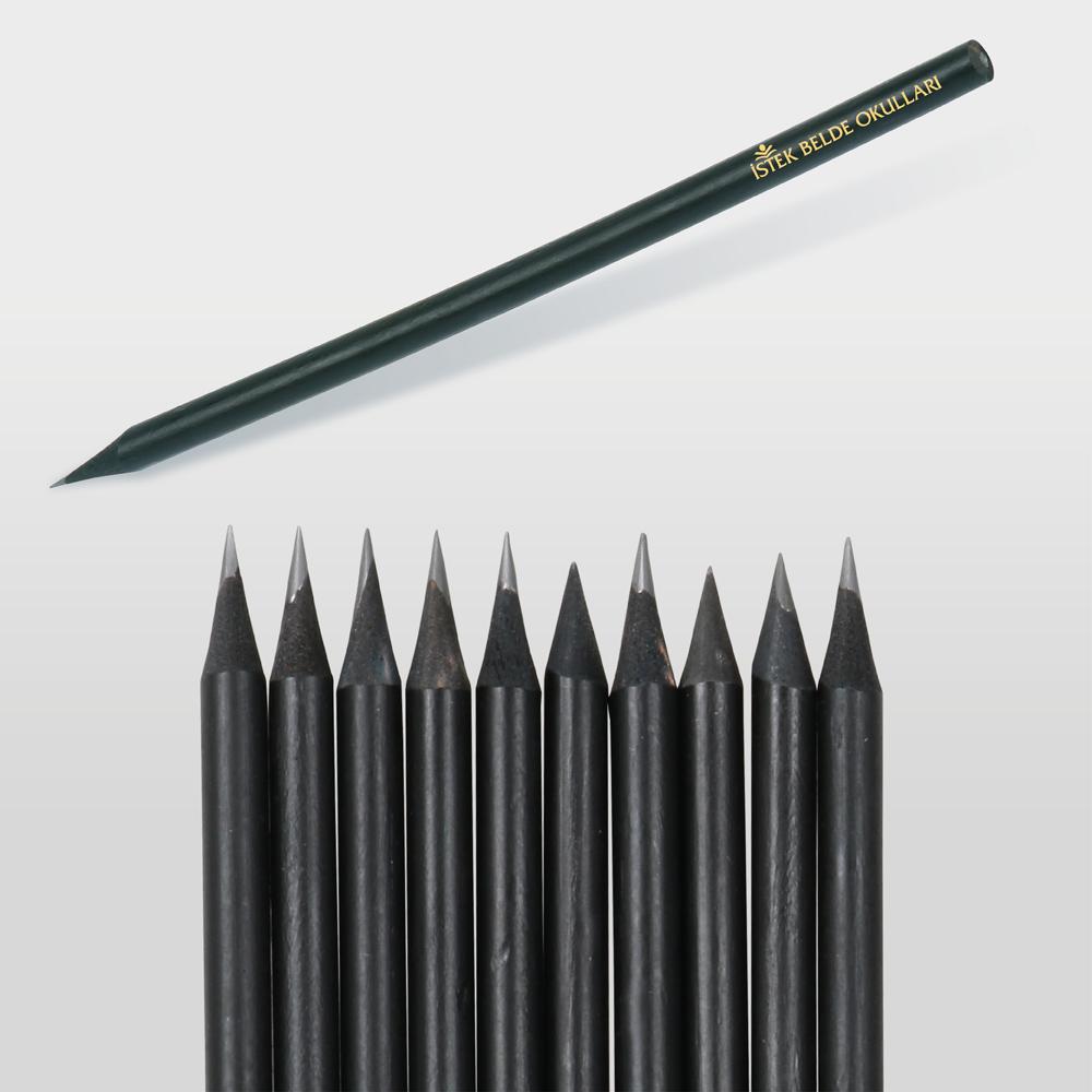 1241 Latalı Siyah Yuvarlak Kurşun Kalem