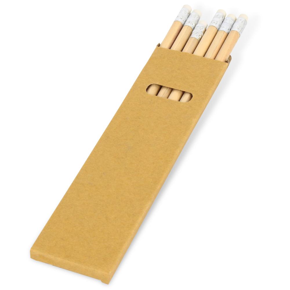 1163 6'lı Silgili Kurşun Kalem